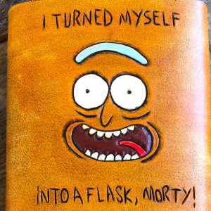 leather rick and forty flask